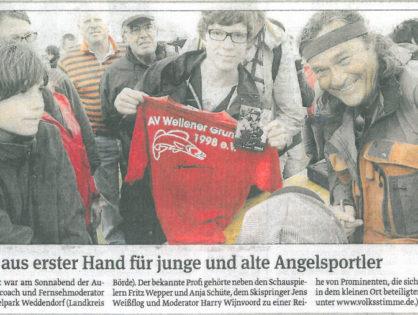 Volksstimme Magdeburg, Sachsen-Anhalt-Seiten, 18.06.2012: Profi-Tipps aus erster Hand für junge und alte Angelsportler