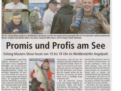 Altmark Zeitung, 22.06.2013: Promis und Profis am See