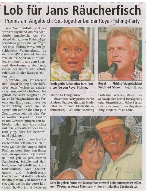 Altmark Zeitung, 25.06.2013: Lob für Jans Räucherfisch