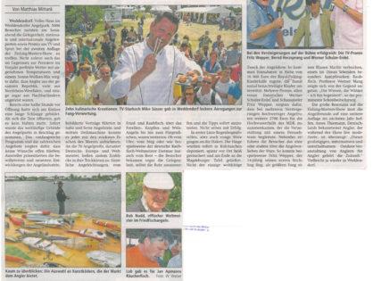 Altmark Zeitung, 25.06.2013: 5.000 Angler unter sich