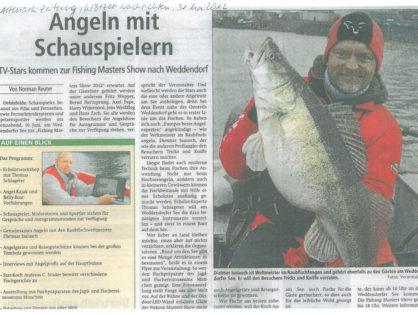 Altmark-Zeitung, Klötzer Nachrichten, 31.05.2012: Angeln mit Schauspielern