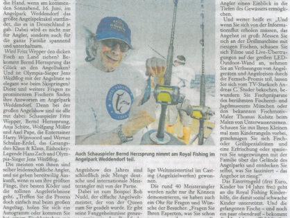 Die Harke am Sonntag, 10.06.2012: Die größte Angelshow des Jahres