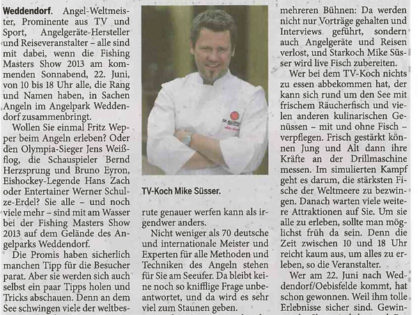 Die Harke am Sonntag, 16.06.2013: Promi-Alarm am Angelsee