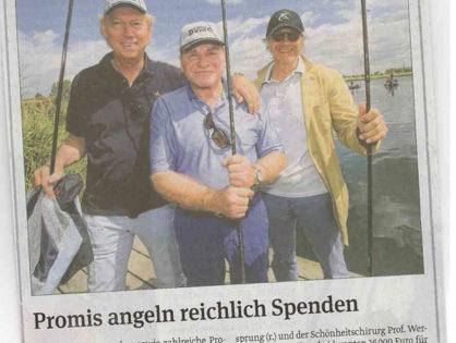 Magdeburger Volksstimme, 24.06.2013: Promis angeln reichlich Spenden