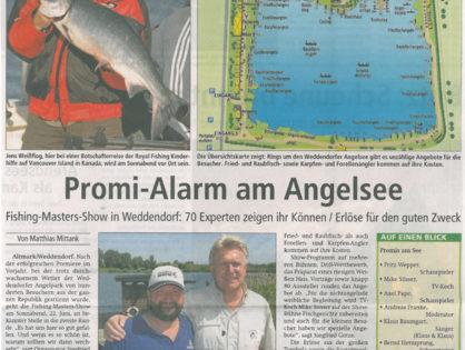 Stendaler Nachrichten, 21.06.2013: Promi-Alarm am Angelsee