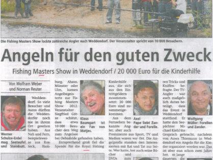 Altmark-Zeitung, Stendaler Nachrichten und weitere Lokalausgaben, 21.06.2012: Angeln für den guten Zweck