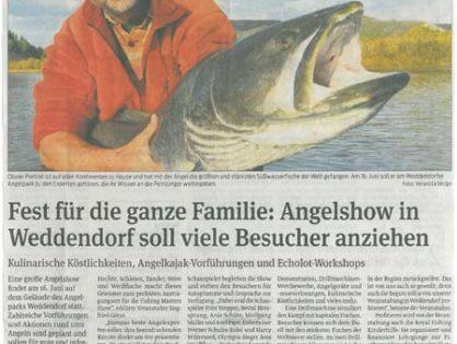 Volksstimme, 07.02.2012: Fest für die ganze Familie: Angelshow in Weddendorf