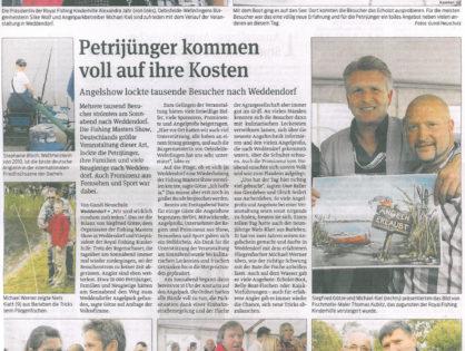 Volksstimme, Klötzer Rundschau, 18.06.2012: Petrijünger kommen voll auf ihre Kosten
