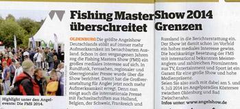 Fishing Masters Show 2014 überschreitet Grenzen