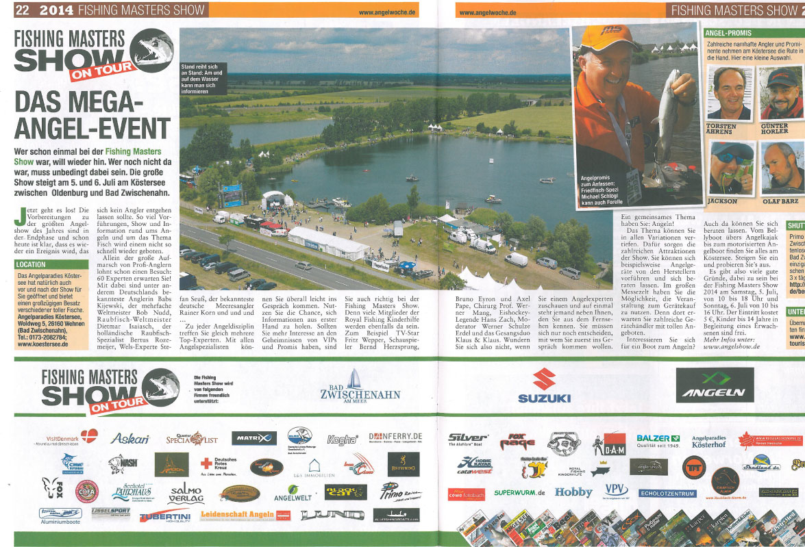 Fishing Masters Show On Tour Das mega Angel-Event