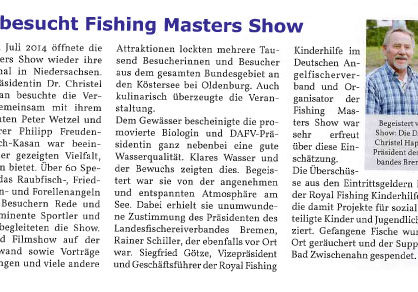 DAFV besucht Fishing Masters Show