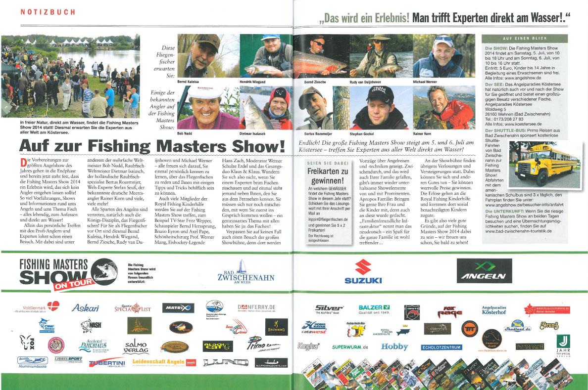 Auf zur Fishing Masters Show!