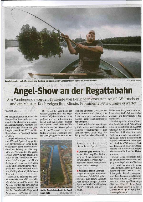 Angel-Show an der Duisburger Regattabahn