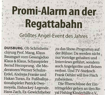 Promi-Alarm an der Regatta-Bahn