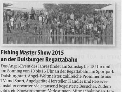 Fishing Masters Show 2015 an der Duisburger Regattabahn