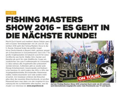 Fishing Masters Show 2016 – Es geht in die nächste Runde!
