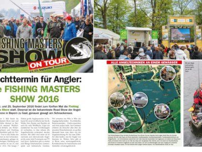"""""""Pflichttermin für Angler"""" – Fishing Masters Show 2016"""