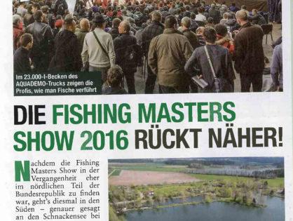 Die Fishing Masters Show 2016 rückt näher