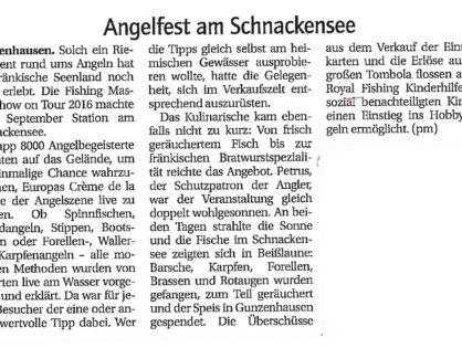 Angelfest am Schnackensee