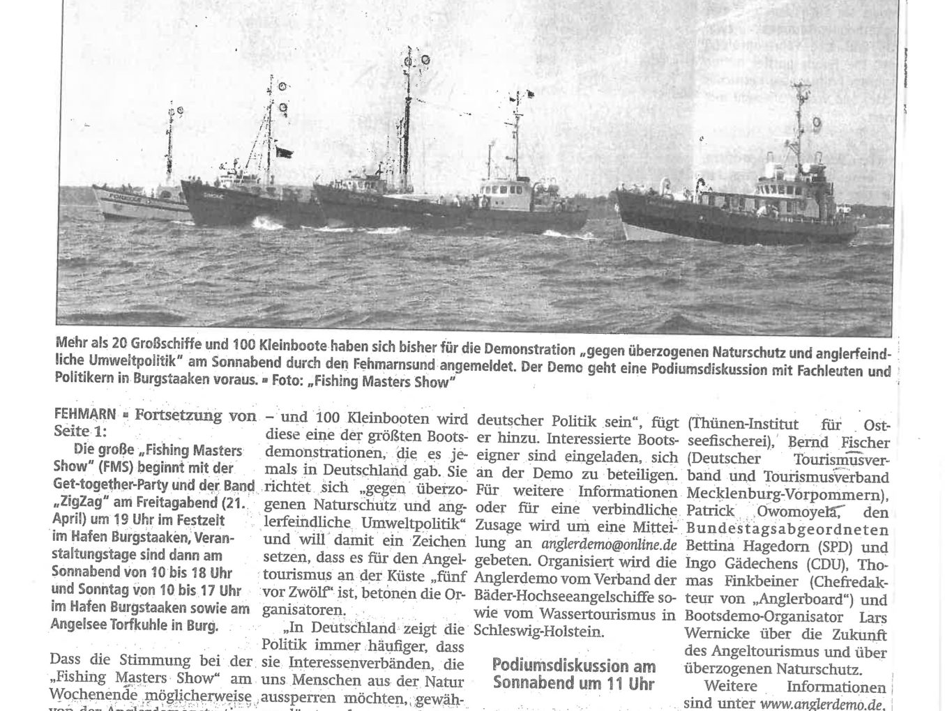 Größte Bootsdemo, die es jemals in Deutschland gab