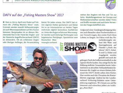 DAFV auf der Fishing Masters Show 2017