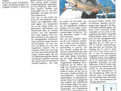 Prominente angeln für den guten Zweck auf der Ostseeinsel Fehmarn