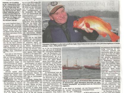 Angeln mit Fritz Wepper und Co./ Große Promidichte bei Fishing Masters Show auf Fehmarn