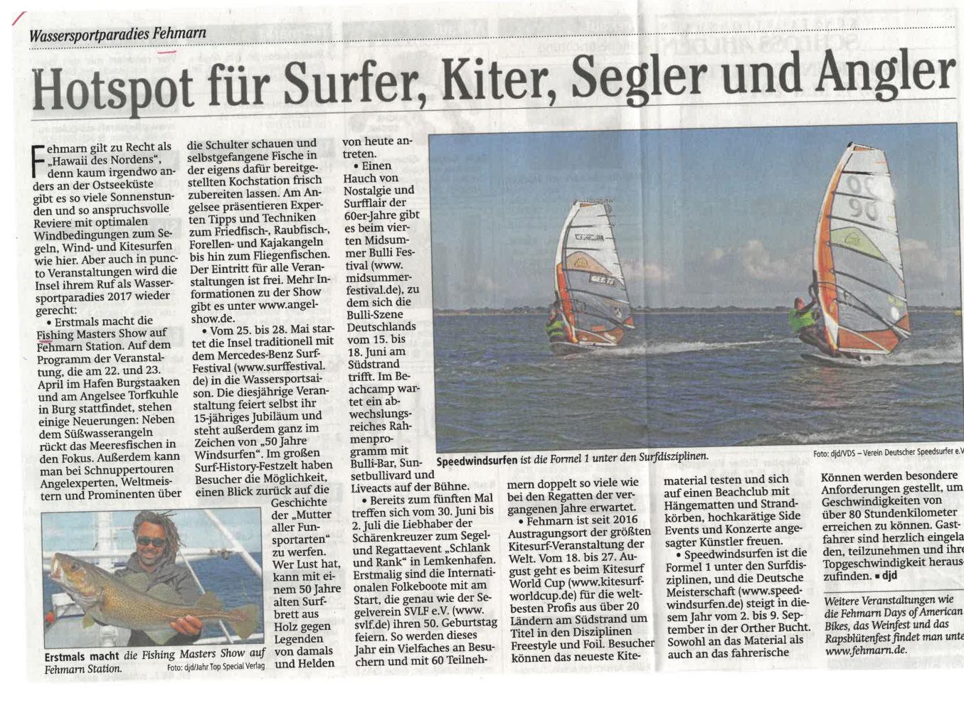 Hotspot für Surfer, Kiter, Segler und Angler
