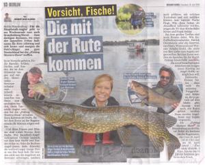 Vorsicht, Fische! Die mit der Rute kommen