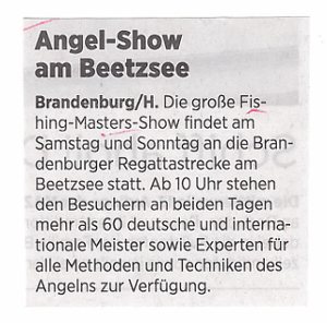 Angelshow am Beetzsee