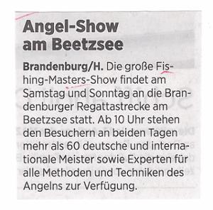 Angelshow am Beetzsee