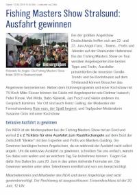 Fishing Masters Show Stralsund: Ausfahrt zu gewinnen!
