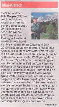 Fritz Wepper schwingt die Rute