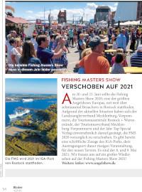 Fishing Masters Show verschoben auf 2021